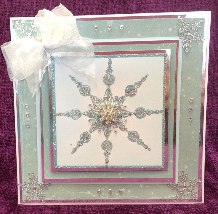 Card Made by Barbara using Stamps by Chloe Large Beaded Snowflake