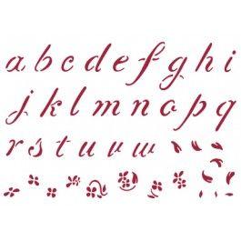 stencil alfabeto minuscolo