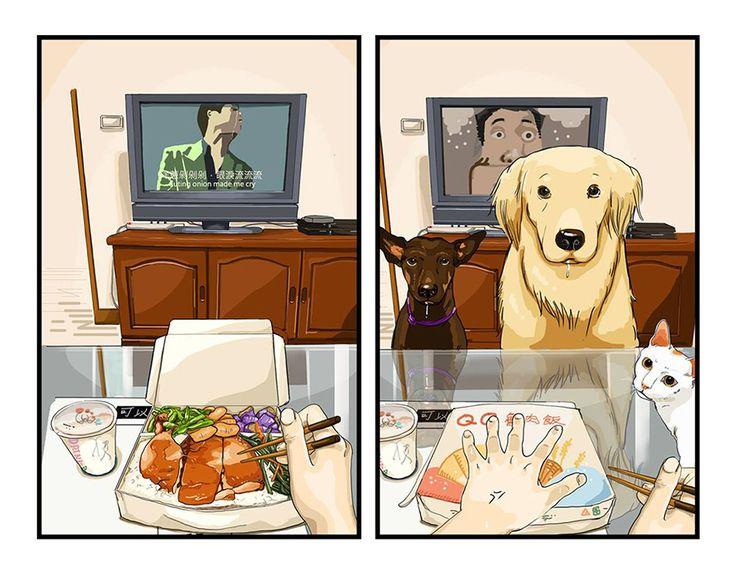 Najlepší priateľ človeka – roztomilé ilustrácie výstižne zobrazujú život so psom a bez neho