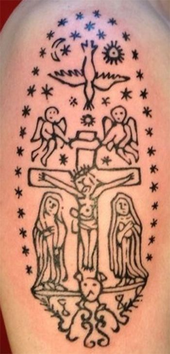 1000 ideas about crucifix tattoo on pinterest tattoo for Are tattoos a sin catholic
