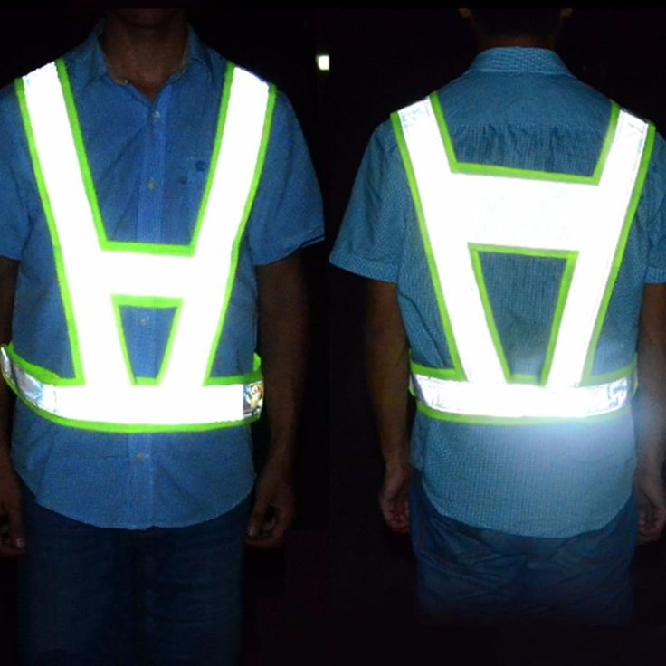 V-Shaped Reflective Safety Vest Traffic Safety Clothing High Visibility Light-Reflecting Vests Anti Freeze Overalls #Affiliate