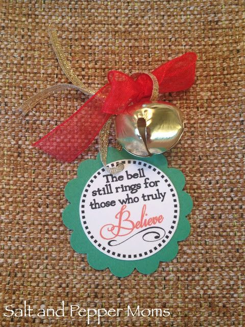 Christmas Bell Tag to hand out at Polar Express Christmas party in classroom.