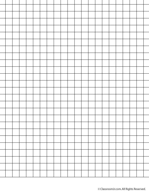 Printable Graph Paper Teaching Mathy Things Pinterest