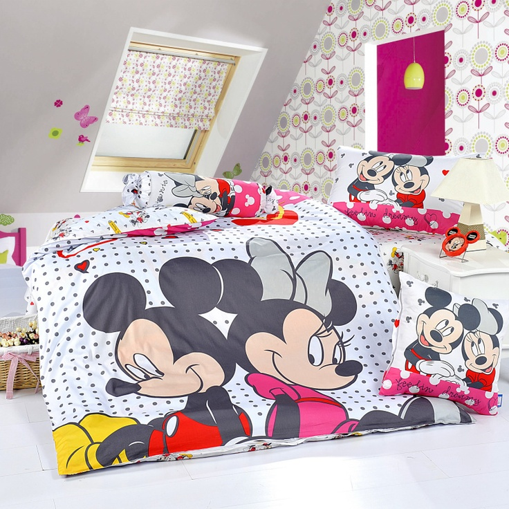 Mickey And Minnie White Style2 Disney Bedding Sets