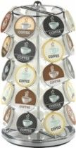 NIFTY Coffee Pod Carousel: Holds up to 35 K-Cup coffee pods; 1 drawer; rotating base; scratch- and stain-resistant steel construction; nickel finish