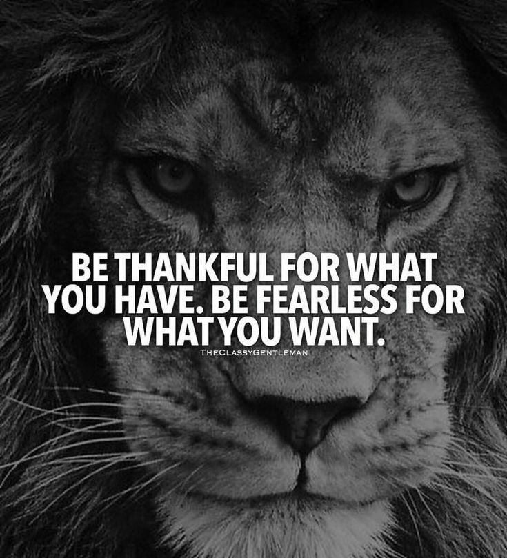 Be thankful for what you have. Be fearless for what you want. . . . . . . . . . . . . . . . . . . . . #inspirationalquotes #motivationalquotes #motivate #gymmotivation #selfimprovement #growth #inspiring #nolimits #workharder #motivation #successquotes #ceo #motivationalspeech #pushyourself #lifegoals #thegrind #nofear #hardwork #prayerworks #betough #gohard #athletequotes #workoutquotes #pushthrough #fitnessmotivation #neverquit