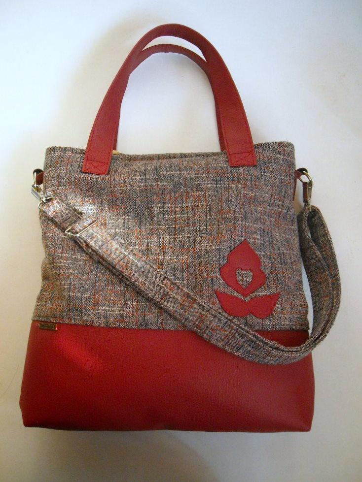 Red bag with Hungarian motif.