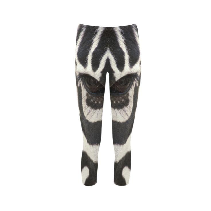 Zebra Capri Leggings. FREE Shipping. FREE Returns. #leggings #zebra