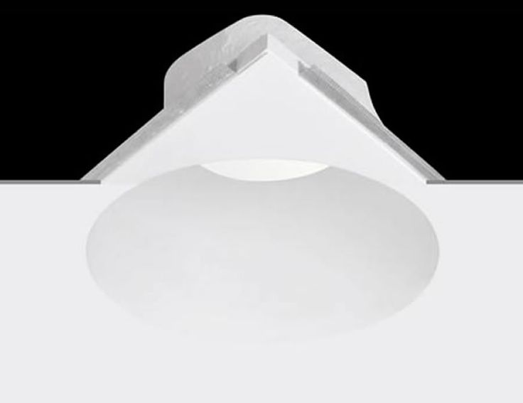 Lámpara empotrable de yeso gran tamaño LED #decoracion #iluminacion #interiorismo #lamparas