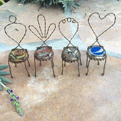 Mini Bottle Cap Chairs