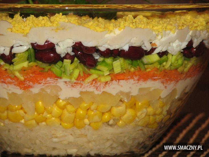 Królewska sałatka - warstwowa z ananasem - zdjęcie 3