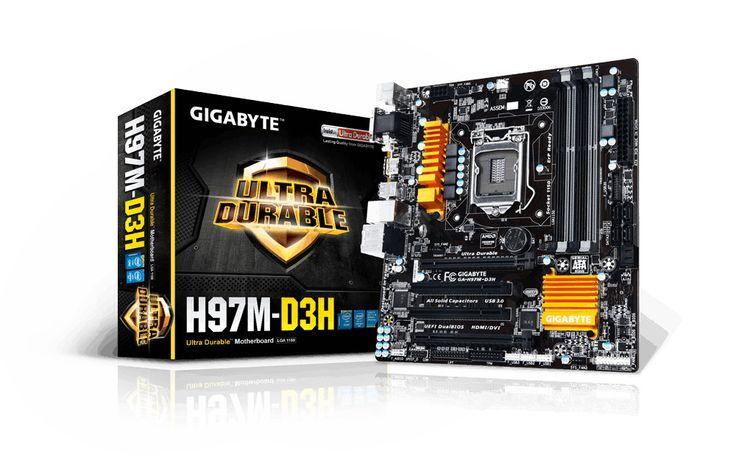 Intel H97 Micro ATX Motherbrd - Gigabyte Technology - GA-H97M-D3H