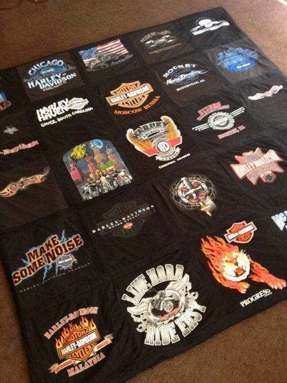 Harley Davidson Themed Memory T Shirt Blanket Custom