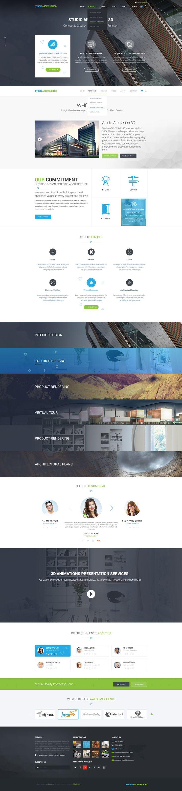 Archvision3d main page