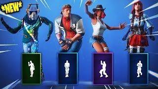 All New Fortnite Season 6 Skins Dances Emotes Fortnite