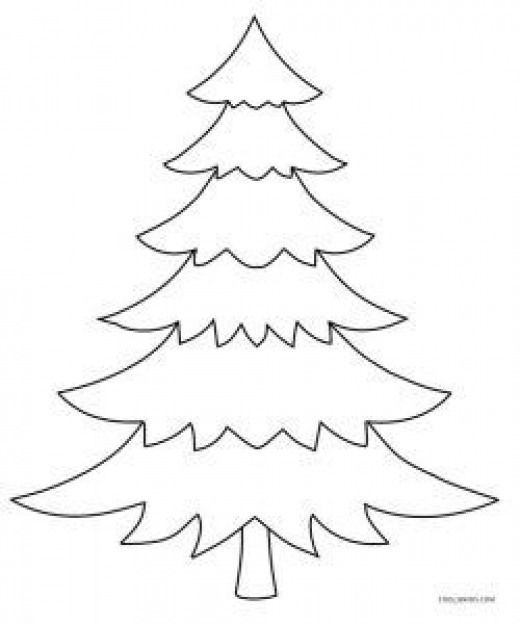 Blank Christmas Tree Coloring Page Kidswoodcrafts With Images Christmas Tree Coloring Page Christmas Tree Printable Christmas Tree Template