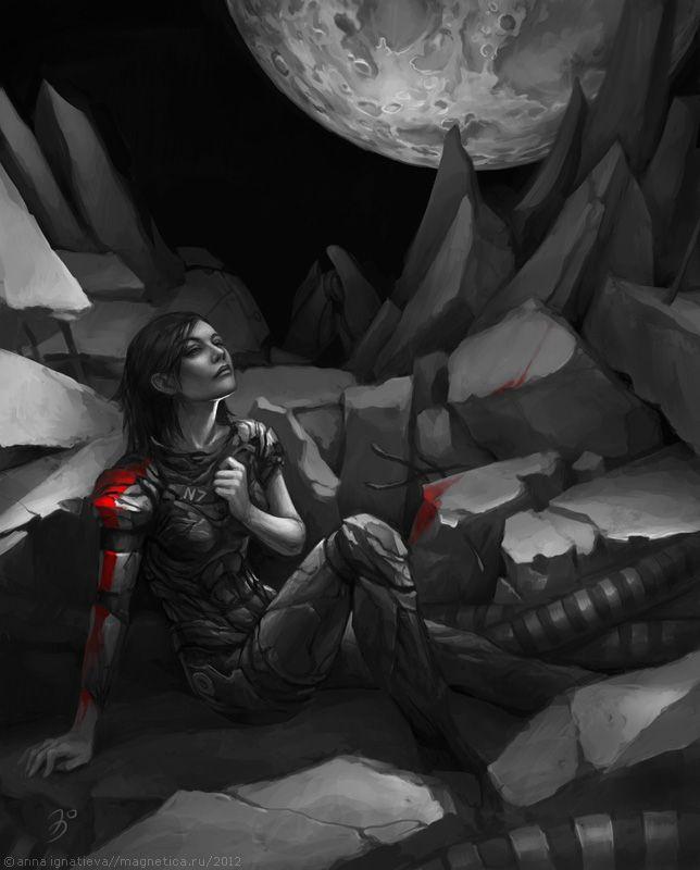 Mass Effect. Commander Shepard by maruhana-bachi.deviantart.com on @deviantART