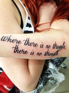 simple hand written tattoo quotes on side about strength - The pain you feel taday is the strength you feel tomorrow. | Search Unique tattoo quotes