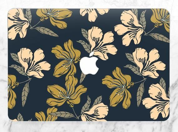 Macbook case floral Elegant case Dark blue case A1708 macbook pro Air 13 2018 Case Pro Retina 15 Mac