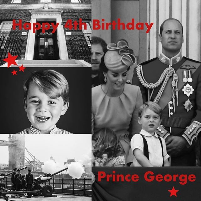 Four years ago today soldiers from @armyinlondon fired Salutes from the #TowerofLondon and #GreenPark to announce the birth of a new #prince. Today Prince George celebrates his 4th #birthday and we wish him many happy returns of the day. #princegeorge