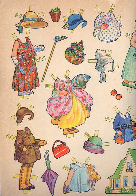 Vintage Paper Doll Costumes 3 | von contrarymary
