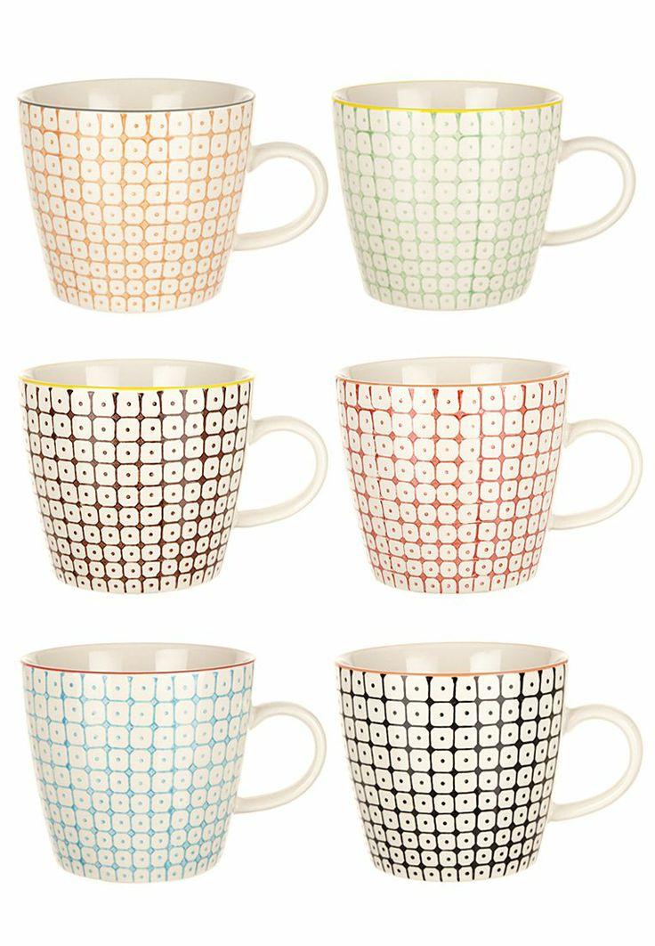 Bloomingville - CARLA - 6 PACK - Mug - multicolore