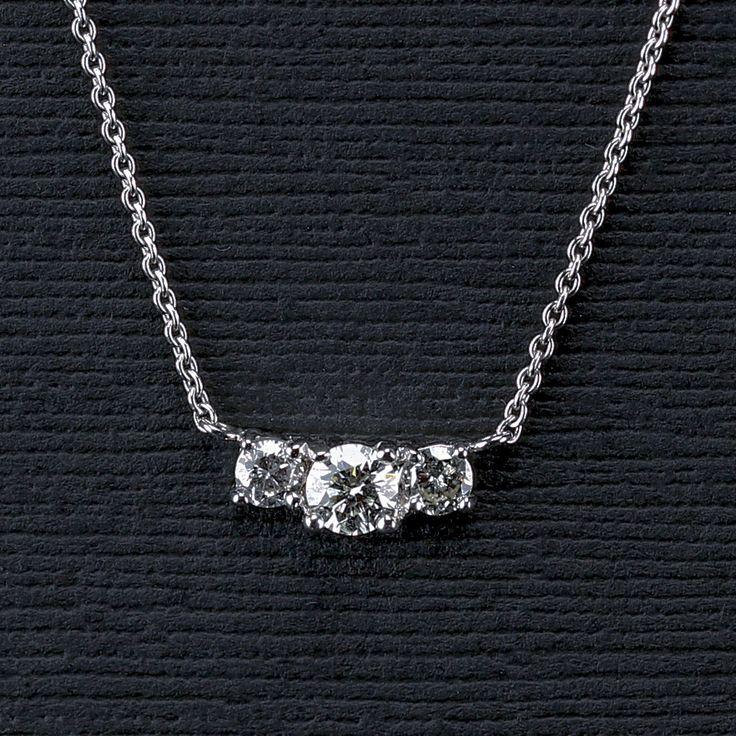 Three Stone Diamond Pendant