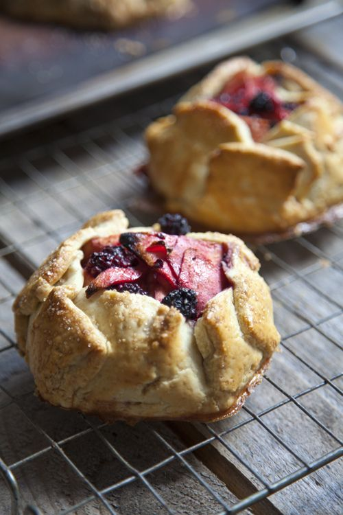 Rustic Apple and Blackberry Galettes
