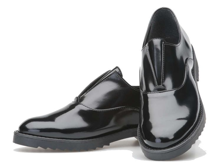 Palmroth oxford black matt patent