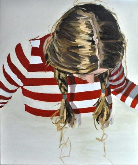 Promise to Repeat III (portrait) oil Painting by Celeste Keller #ccdj