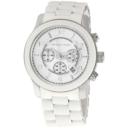 Michael Kors Runway White Chrono Mens Watch MK8108 + Free Exclusive Tote Bag I don't care if it's a mans watch... I want it