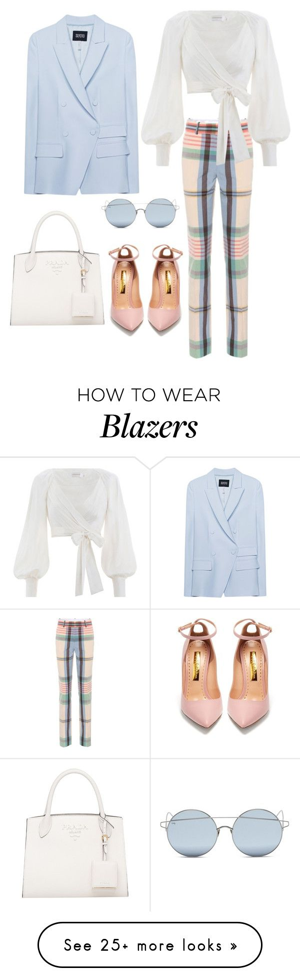 """""""Untitled #1885"""" by rubysparks90 on Polyvore featuring For Art's Sake, Victoria Beckham, Zimmermann, SLY 010 and Rupert Sanderson"""