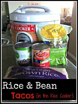 Rice & Bean Tacos in Rice Cooker @foreverforalwaysnomatterwhat.com