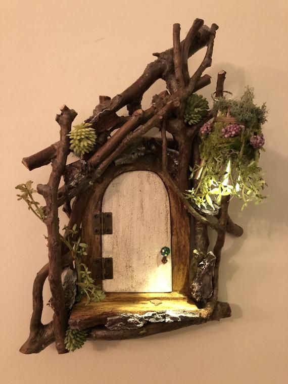 Enchanting Fairy Door by Olive ~ Scaled to work with most fairies! Opening door,…