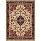 Sensation Beige 7 ft. 10 in. x 10 ft. 6 in. Traditional Area Rug