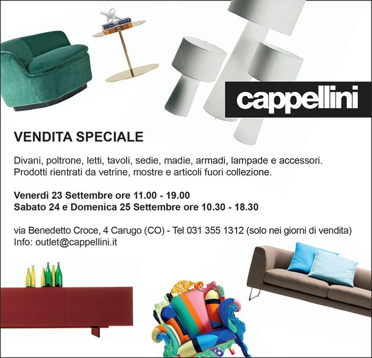 Svendita #Cappellini, settembre, all'#outlet di CArugo ( Como).