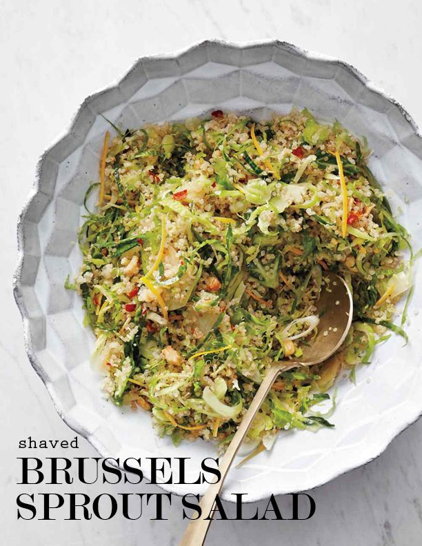 Shaved Brussels Sprout, Meyer Lemon, and Quinoa Salad | Martha Stewart ...