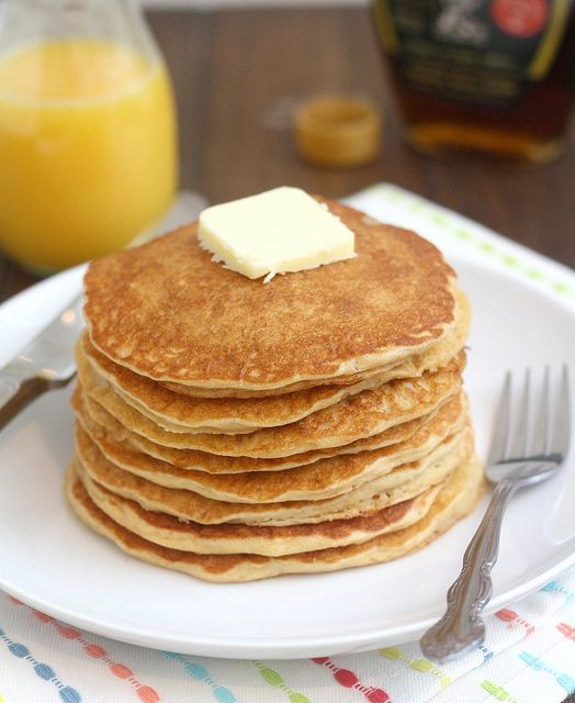 Homemade Whole Grain Pancakes | Yummyyyy | Pinterest