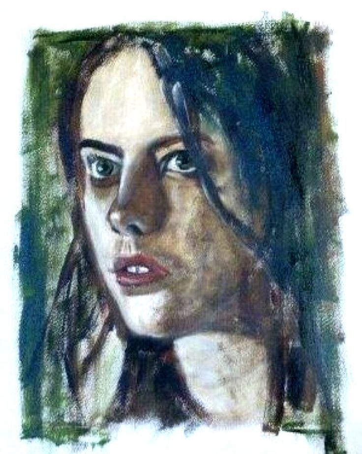 A portrait painters delight: 21-year old London girl Kaya Scodelario, acrylic on paper 50x40