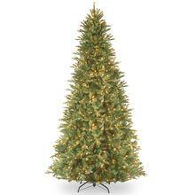 9 ft. Pre-Lit Feel Real® Tiffany Fir Slim Artificial Christmas Tree, Clear Lights