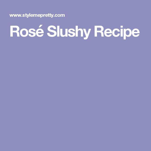 Rosé Slushy Recipe