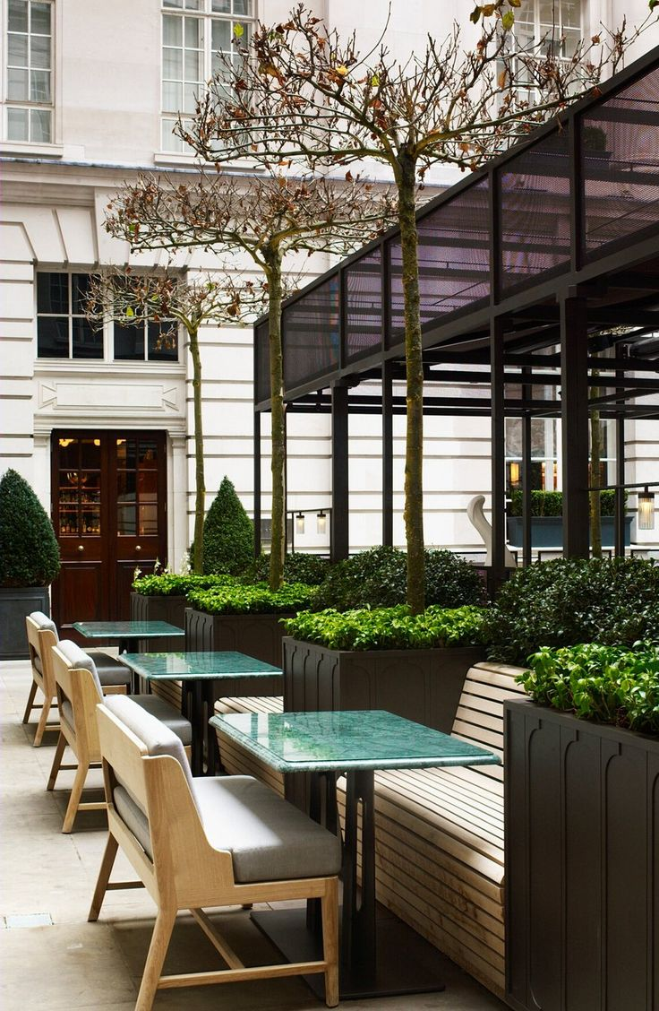 Rosewood hotel in London courtyard designed by Luciano Giubbilei