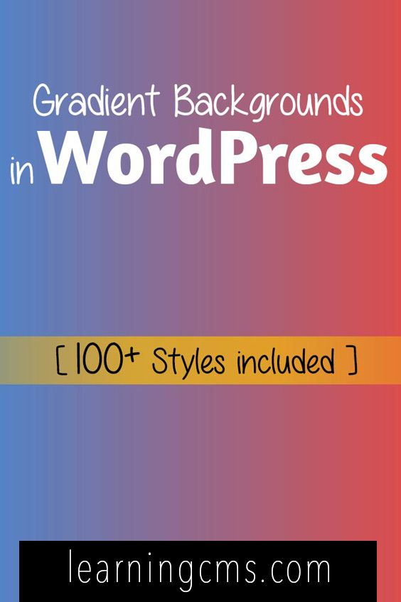 Using gradient backgrounds in WordPress is one way to standout of the competition and you can do it very easily using CSS, Cascading Style Sheets.  We will see methods to generate css gradient background colors for WordPress and use them using div classes in WordPress.
