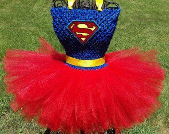Supergirl/Superman Tutu Dress/Superhero by LYMChildrensCreation