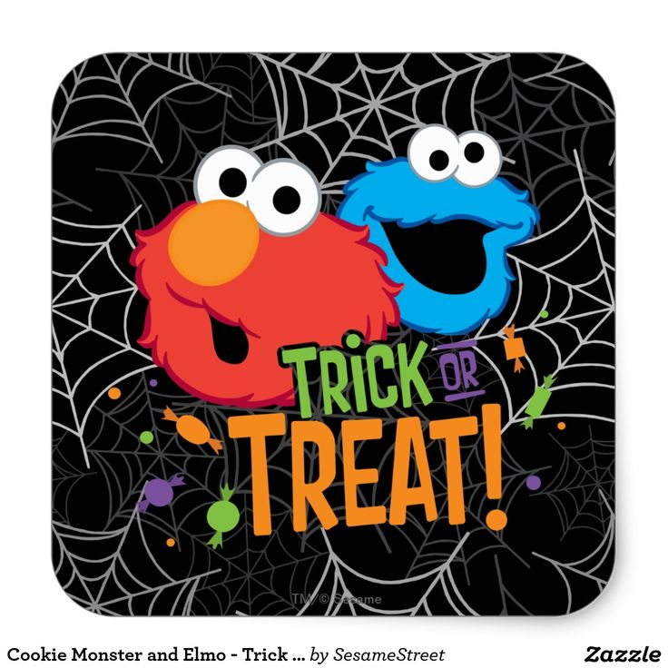 Cookie Monster and Elmo - Trick or Treat #sticker
