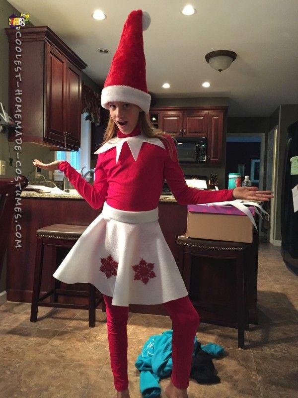 Elf on a Shelf DIY Illusion Costume...