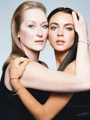 Meryl 'wonderful' Streep and Lindsay Lohan