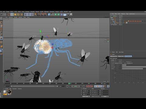 Cinema 4D Tutorial // Create a Swarm of Flies in Cinema 4D - YouTube