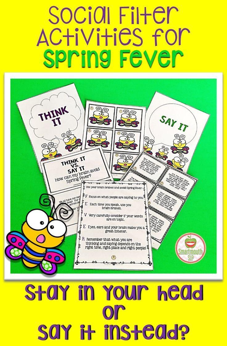 Social Filter Spring Social Skills Groups Social Skills Lessons Pbis Lessons