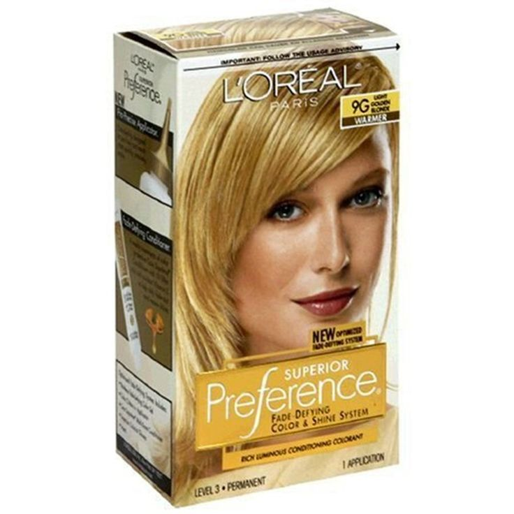 Loreal Preference Hair Color,# 9G Light Golden Blonde #Loreal